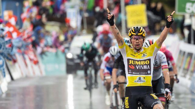 Primoz Roglic est idéalement placé pour remporter le Tour de Romandie. [Jean-Christophe Bott - Keystone]