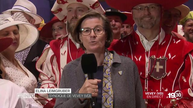 Proclamation de la Fête des Vignerons: l'éclairage d'Elina Leimgruber, syndique de Vevey. [RTS]