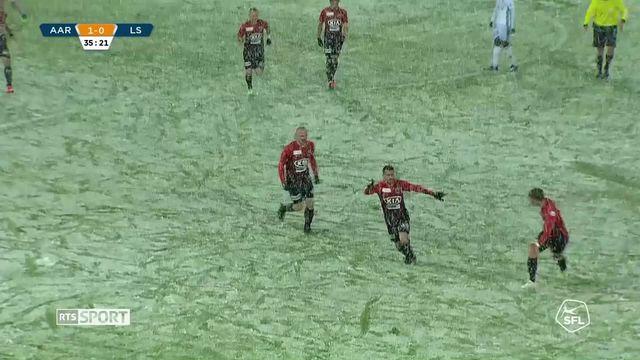 Challenge League, 32e journée: Aarau - Lausanne (3-0) [RTS]