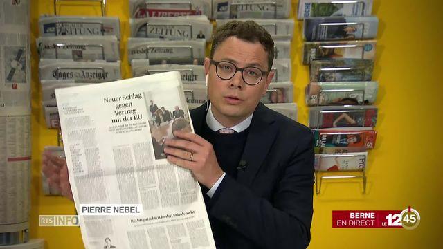 Revue de presse: la 5G et l'accord-cadre avec l'Union européenne font toujours débat en Suisse. [RTS]
