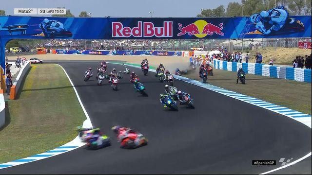 GP d'Espagne (#4), Moto 2: beaucoup de chutes et drapeau rouge dans ce départ de Moto2 [RTS]