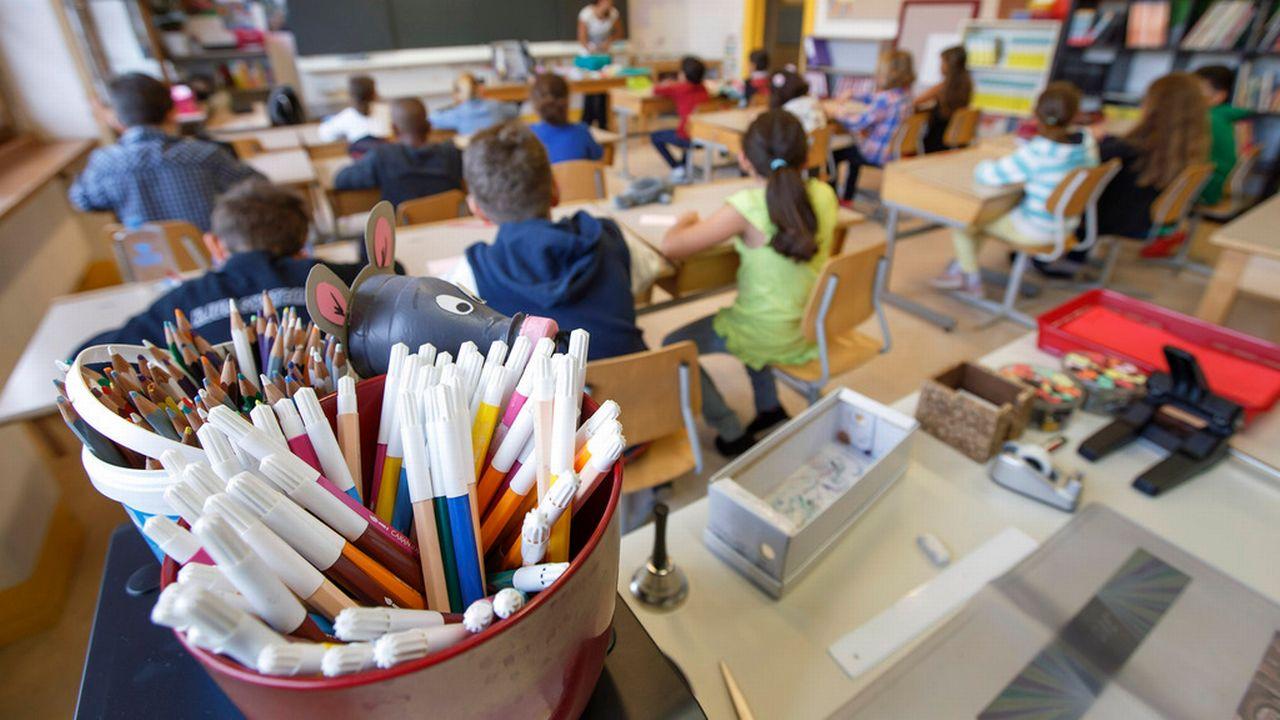 Une salle de classe à l'école primaire [Salvatore Di Nolfi - Keystone]