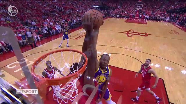 Basket, playoffs de NBA:  Clint Capela dans la rencontre Houston - Golden State [RTS]
