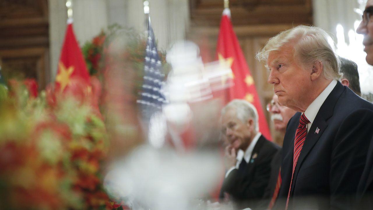 Donald Trump remet la pression sur Pékin avant d'importantes négociations. [Pablo Martinez Monsivais - Keystone ]