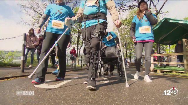 Marathon de Zurich: un homme paraplégique a participé à la course grâce à un exo-squelette fabriqué en Suisse [RTS]