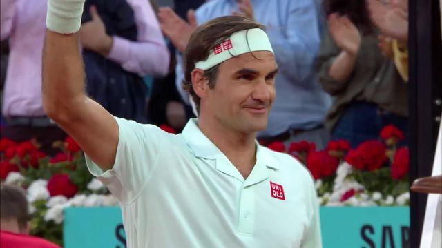Madrid, R. Federer (SUI) bat R. Gasquet (FRA) 6-2 6-3 [RTS]