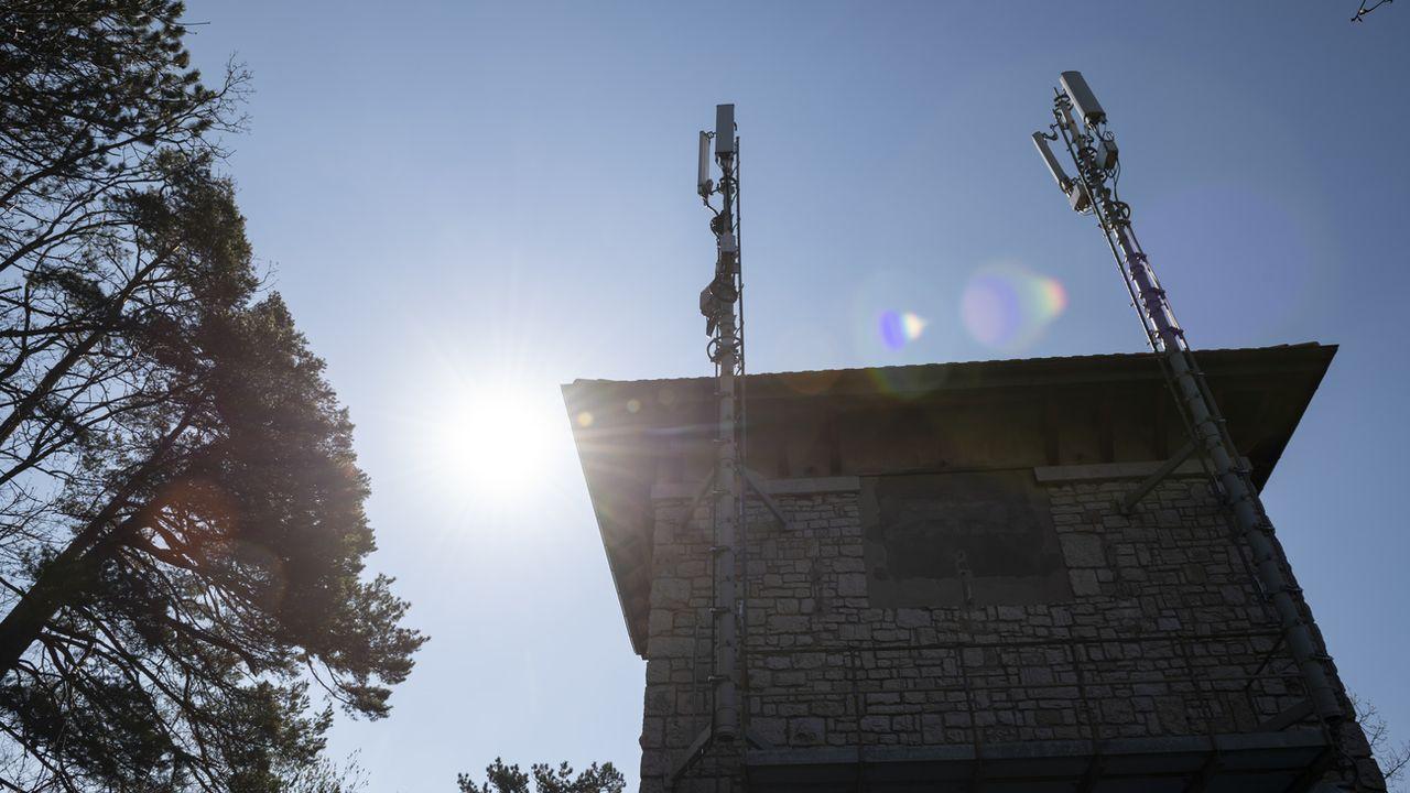 Neuchâtel veut appliquer le principe de précaution concernant les antennes 5G. [Adrien Perritaz - Keystone]