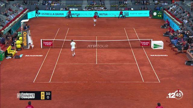 Tennis: Federer s'impose aisément face à Richard Gasquet au Masters 1000 de Madrid. [RTS]