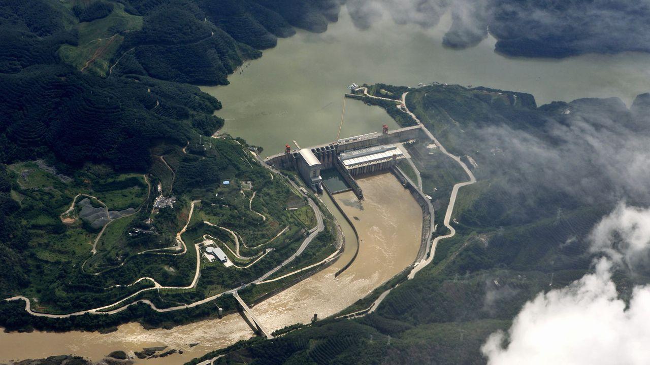 Barrage hydroélectrique de Jinghong, sur la partie supérieure du Mékong en Chine. [Yang zheng - Imaginechina/AFP]