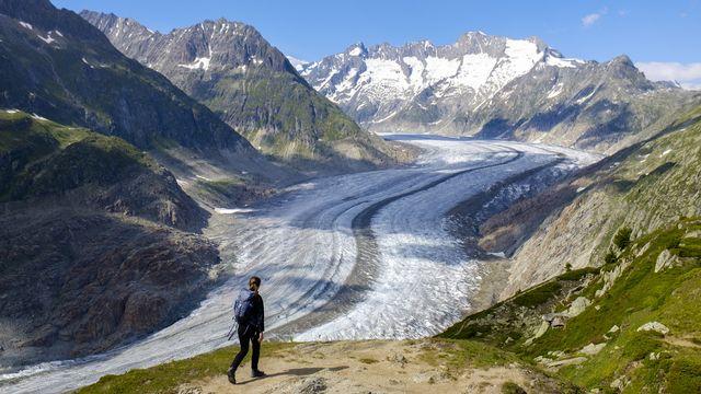 Le glacier d'Aletsch photographié le 7 juillet 2018. [Anthony Anex - Keystone]