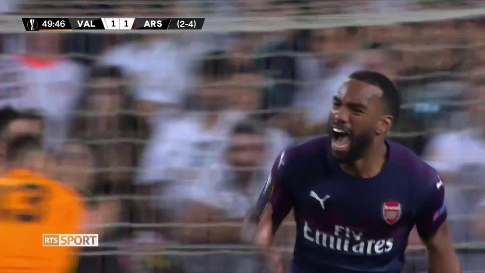 1-2 retour, Valence - Arsenal (2-4): les buts du match [RTS]