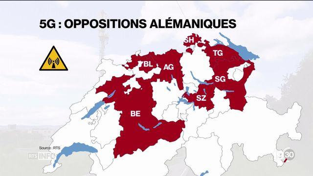 L'opposition à la 5G gagne les campagnes alémaniques. Les milieux conservateurs dénoncent une technologie imposée par Berne. [RTS]