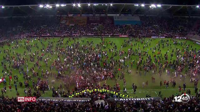 En football, Genève Servette a vaincu Lausanne, ce qui la promeut en Super League. [RTS]