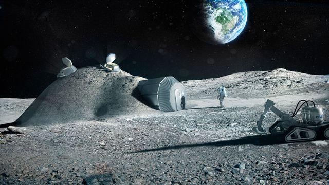 Une image de synthèse de ce à quoi pourrait ressembler la Lune d'ici 20 à 30 ans. [Bernard Foing/ESA - afp]