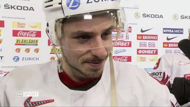 Hockey, Mondial 2019: Suisse - Lettonie (3-1): Noah Rod au micro de la RTS [RTS]