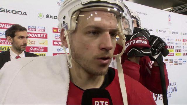 Groupe B, Suisse - Autriche (4-0): l'interview d'Andrighetto à la fin du match [RTS]