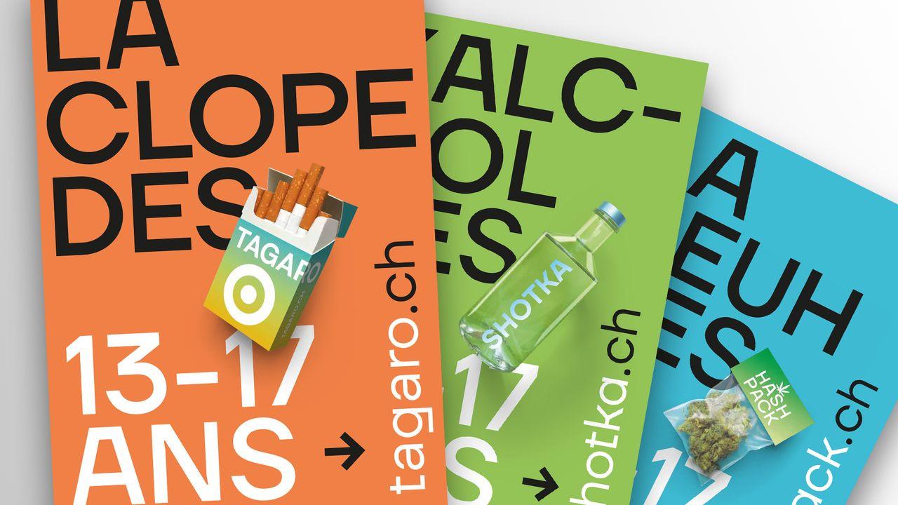Affiches de la campagne de prévention de la Ville de Lausanne. [DR]