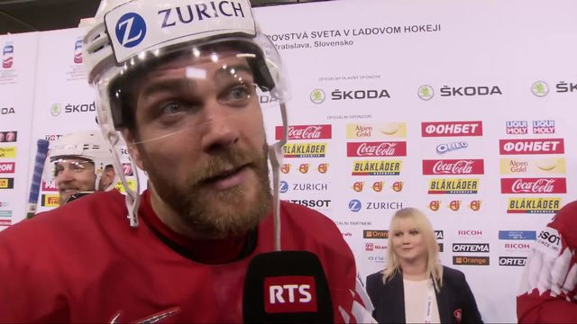 Groupe B, Suisse - Norvège (4-1): Genazzi satisfait de la rencontre malgré le but encaissé [RTS]