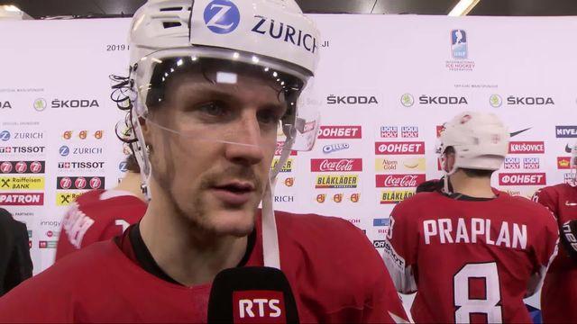 Groupe B, Suisse - Norvège (4-1): Gaëtan Haas à l'interview après la victoire suisse [RTS]