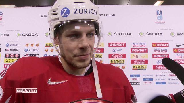 Groupe B, Suisse - Norvège (4-1): Lukas Frick au micro de RTSsport après le match [RTS]