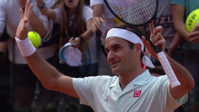 ATP Rome, 1-16e: Joao Sousa (POR) battu par Roger Federer (SUI) (4-6, 3-6) [RTS]