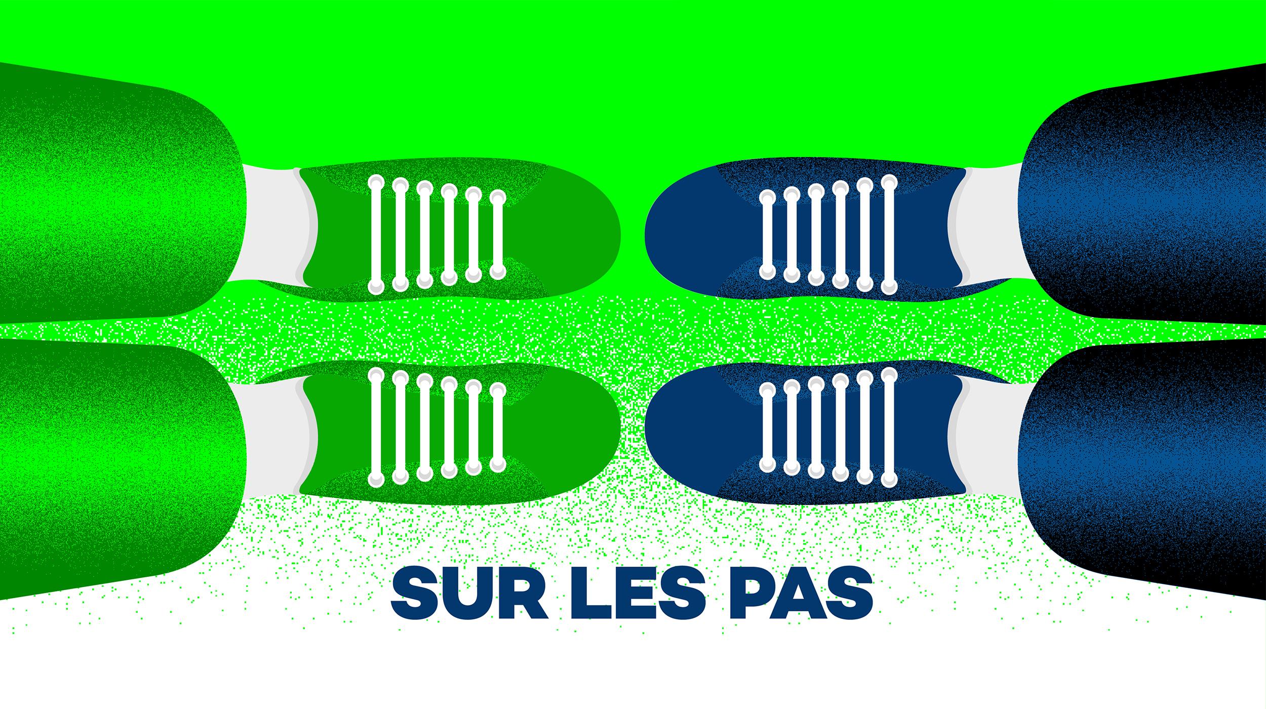 Logo podcast Sur les pas. [RTS]