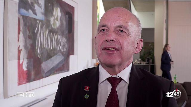 Ueli Maurer est le premier Suisse à être reçu à la Maison Blanche en tant que président de la Confédération. [RTS]