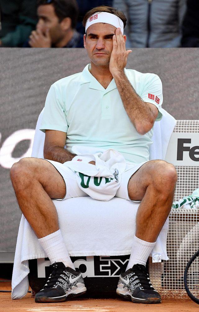 Roger Federer doit renoncer. [E.Ferrari - Keystone]