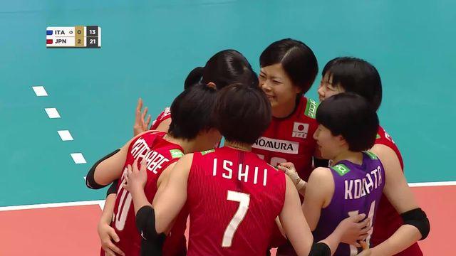 1-2 finale, Italie - Japon (21-25, 14-25, 16-25): Le Japon rejoint la Pologne en finale [RTS]
