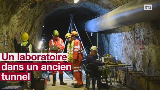 Un laboratoire dans un ancien tunnel [RTS]