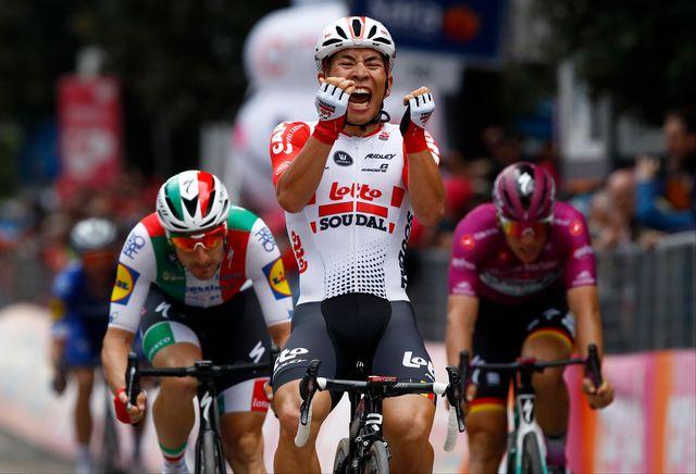 Caleb Ewan s'est imposé pour la 2e fois de sa carrière sur le Giro. [Luk Benies - AFP]