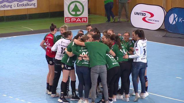 Finale dames, match 1: Brühl – Zoug (19-18): Brühl remporte le premier acte [RTS]