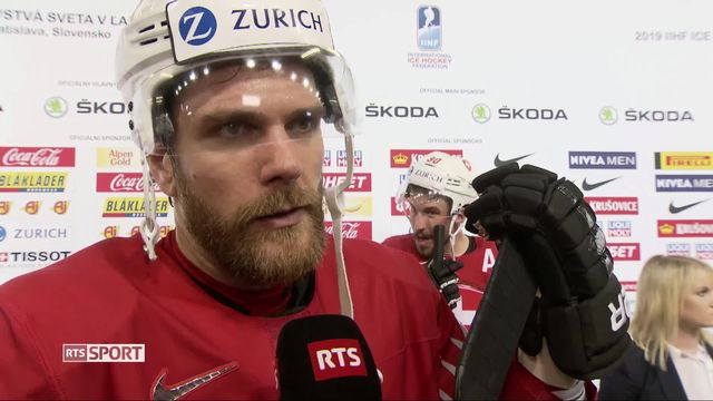 Groupe B, Suède - Suisse (4-3): interview de Joël Genazzi après la rencontre [RTS]