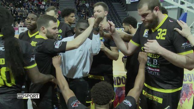 Basketball, 1-2 finales playoffs, Fribourg Olympic - BBC Monthey (89-71): résumé de la rencontre [RTS]