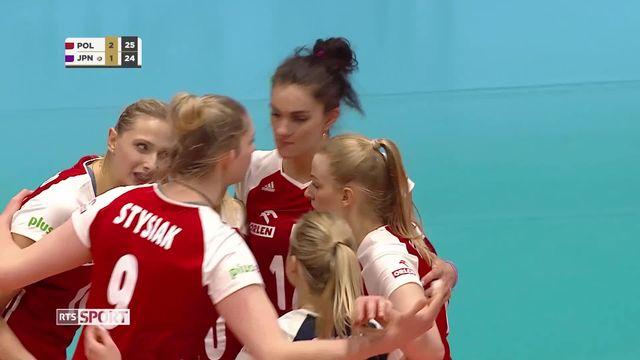 Volleyball, Montreux Volley Masters, Pologne - Japon (25-15, 22-25, 25-17, 26-24): résumé de la rencontre [RTS]