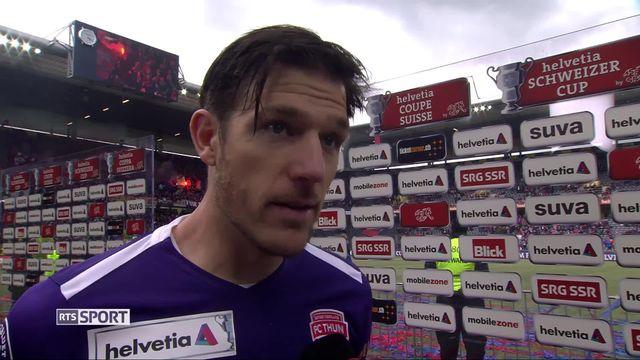 Finale, Bâle - Thoune (2-1): la déception de Guillaume Faivre à l'interview [RTS]