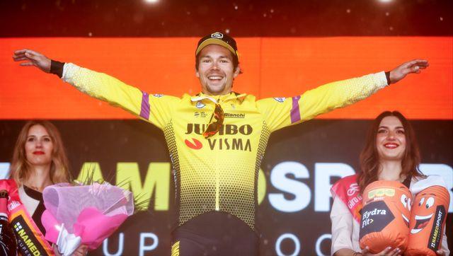 Primoz Roglic a signé son deuxième succès depuis le départ de ce Giro. [Luk Benies - AFP]
