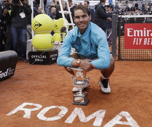 """Nadal semble bien prêt à une semaine de """"son"""" Roland Garros. [Gregorio Borgia - Keystone]"""