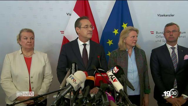 Séisme politique en Autriche: Heinz Christian Strache, numéro deux du gouvernement contraint de démissionner. [RTS]