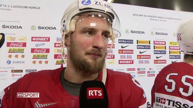 Hockey, Suisse - Russie (0-3): interview de Tristan Scherwey [RTS]