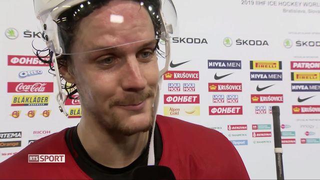 Hockey, Suisse - Russie (0-3): Gaetan Hass a l'interview après la défaite [RTS]