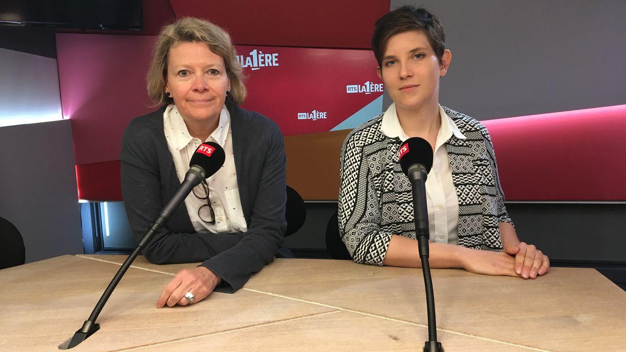 Arian Dayer et Valérie Vuille. [Antoine Droux - RTS]