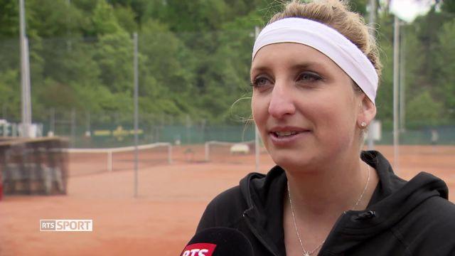Tennis: Timea Bacsinszky se prépare pour Roland Garros [RTS]