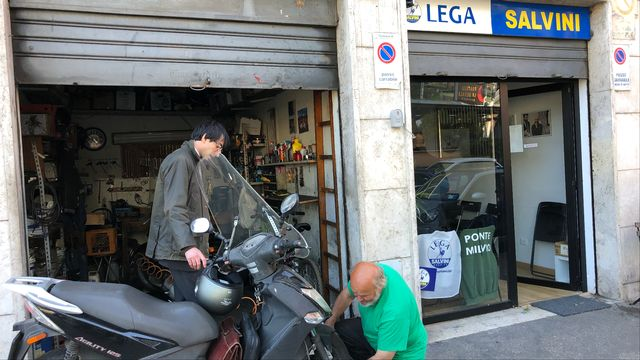 Un local de la Ligue, à Rome. [Juliette Galeazzi - RTS]