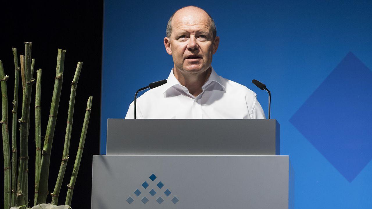 Valentin Vogt, président de l'Union patronale suisse. [Jean-Christophe Bott - Keystone]