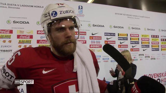 Groupe B, République tchèque – Suisse (5-4): Joël Genazzi au micro de RTSsport après la rencontre [RTS]