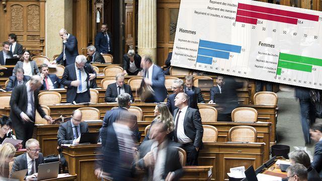 La majorité des parlementaires dit subir des insultes ou des menaces régulièrement. [Peter Schneider - Keystone]