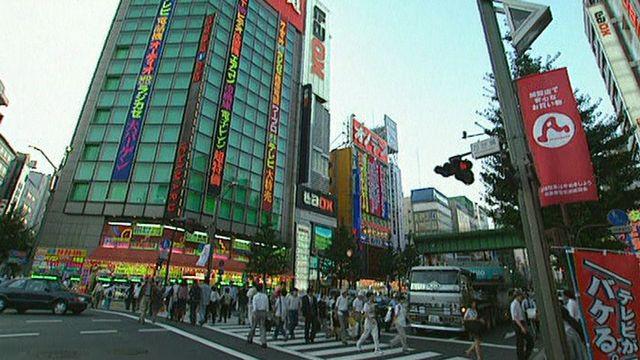 Une rue de Tokyo en 1998. [RTS]