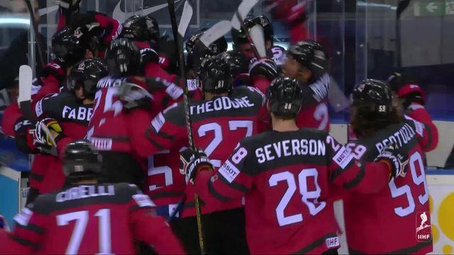 1-4, Canada – Suisse (3-2 ap): le Canada s'impose en prolongation grâce à un doublé de Stone [RTS]