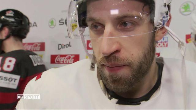 1-4, Canada – Suisse (3-2 ap): Romain Loeffel déçu après l'élimination suisse [RTS]